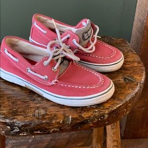 Sperry kids shoes red